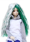 Limited Edition : It is a two-toned long wavy style in white and green.Natural wave go with any costume and looks glamorous in any where.