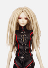 Funky Punky also go right to dolls .Medium dreadlocks hairstyle with centre part to show the striking features.